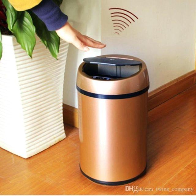 Motion Sensor Trash Cans