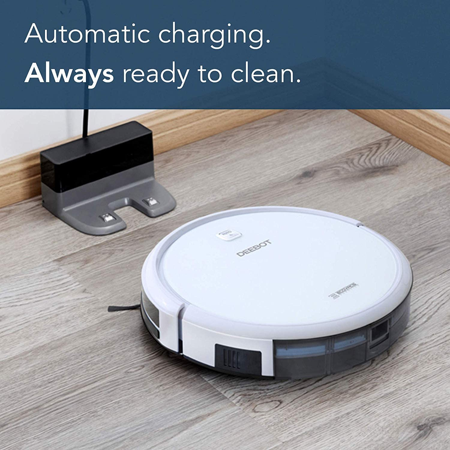 Roll over image to zoom in ECOVACS DEEBOT N79W Robot Vacuum Cleaner (White)