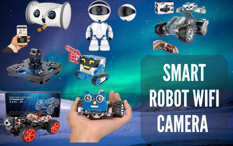 Smart Robot WIFI Camera With Customizable Features