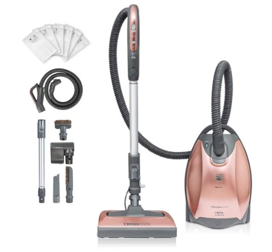 Kenmore BC7005 Pet Friendly Crossover Bagged HEPA Canister Vacuum Cleaner 2-Motor Power Suction with Pet PowerMate, Extended Telescoping Wand, Retractable...